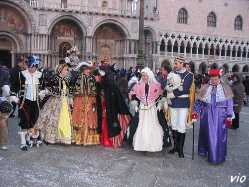 Sur la place San Marco ...
