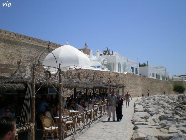 Le fort espagnol d' Hammammet donnant sur la superbe plage