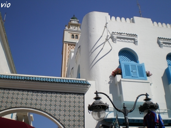 Nabeul est une petite ville aux maisons toutes blanches et volets bleus