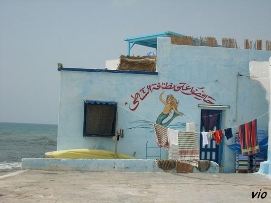 Paillotte sur la plage de Nabeul