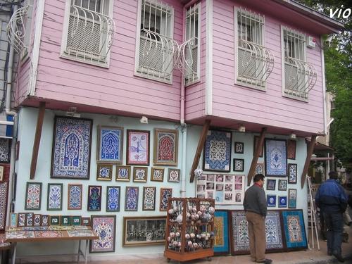 Maison ottomane dans le quartier de l'église orthodoxe Kariye Müzesi