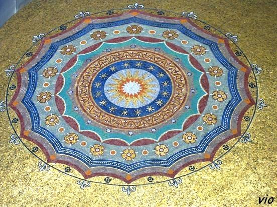 L'une des mosaïques de la mosquée