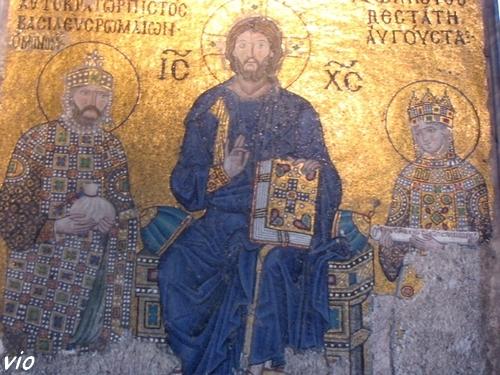 Une des mosaïques à Sainte-Sophie