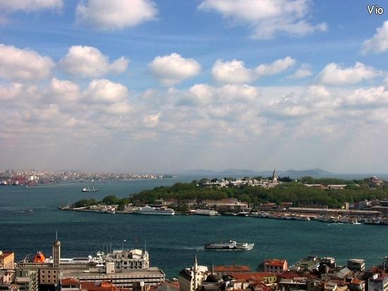 La péninsule de la vieille ville (quartier historique) et le palais Topkapi, palais des Sultans