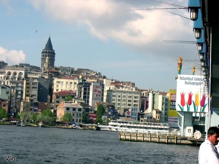 Pont de Galata, réputé pour ses petits restaurants de poissons frits et pêchés directement au pied du pont