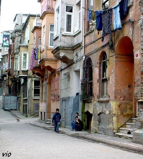 maisons ottomanes dans le quartier de Fener/Balat
