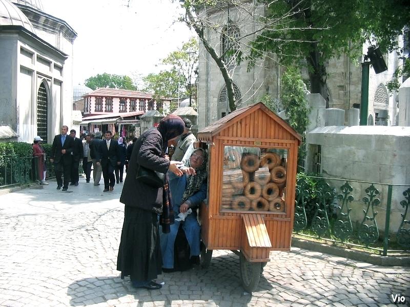 Vendeuse de simits à Eyup