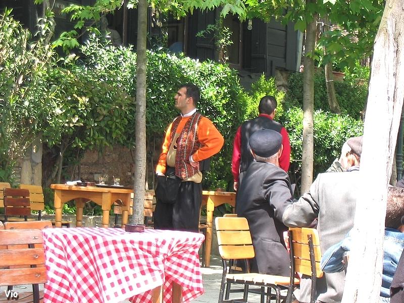 La terrasse du café qui domine la Corne d'Or