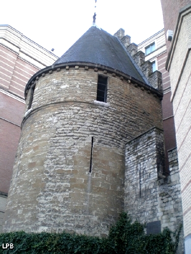 La Tour Noire, vestiges des fortifications