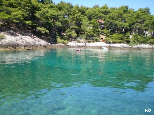 La crique de l'hôtel Fontana et ses eaux turquoises