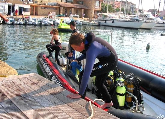 Propriano - Retour de plongée à Campomoro