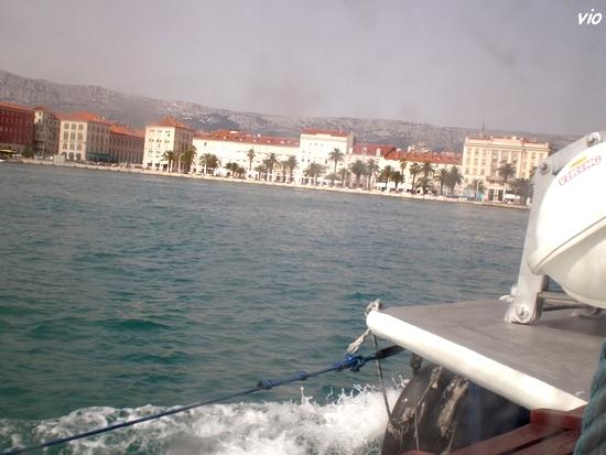 Split ... en arrivant par la mer