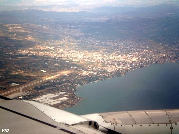 au dessus de la Mer Adriatique, arrivée sur Split