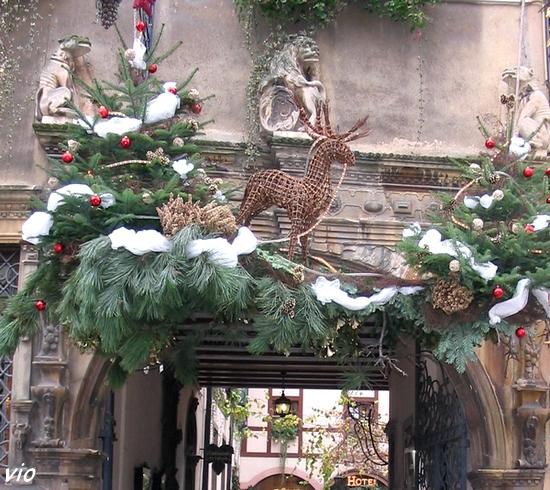 Décoration de Noël à Riquewirh