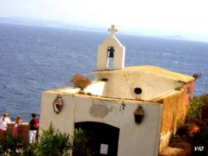 Sur les falaises de Bonifacio ... en face, la Sardaigne