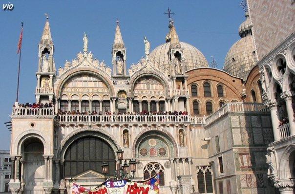La Basilique San Marco, à côté du Palais des Doges