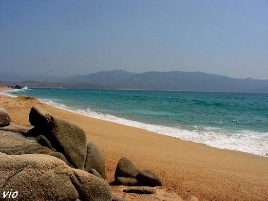 La plage d'Olmeto, très belle mais dangereuse, les courant y sont forts