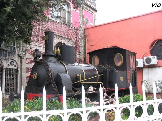 Un exemplaire de la locomotive de l'Orient Express