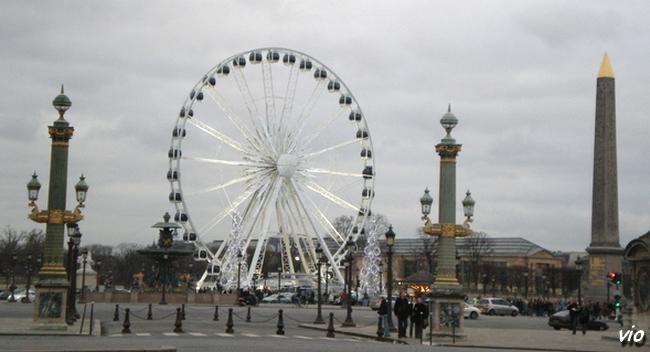 La Place de la Concorde en Décembre 2008